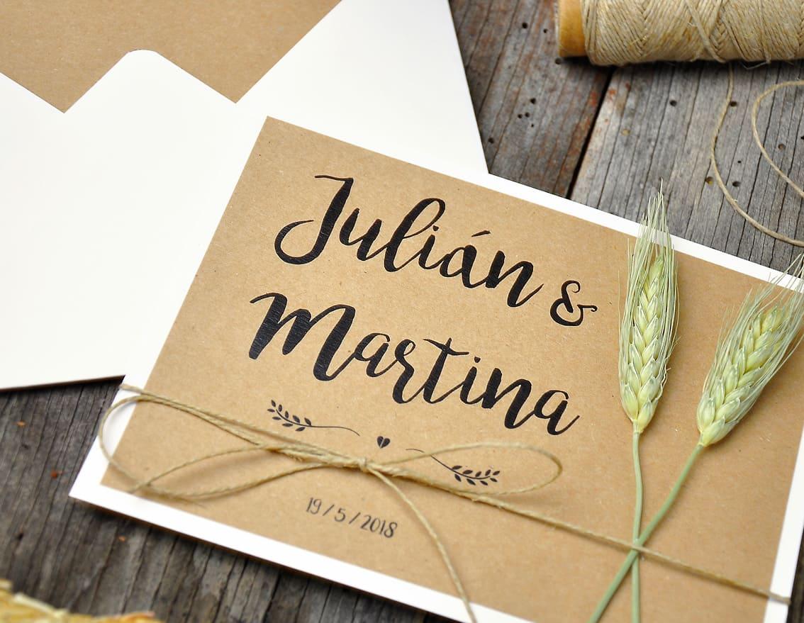 c8cecf09b Invitación boda Natura ❤ Together mola más【 Envio GRATIS 】