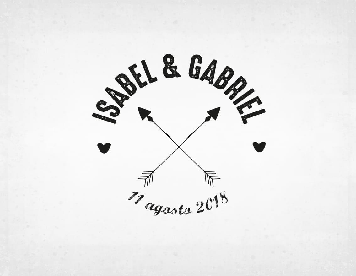 sello-boda-flechas-isabel-y-gabriel