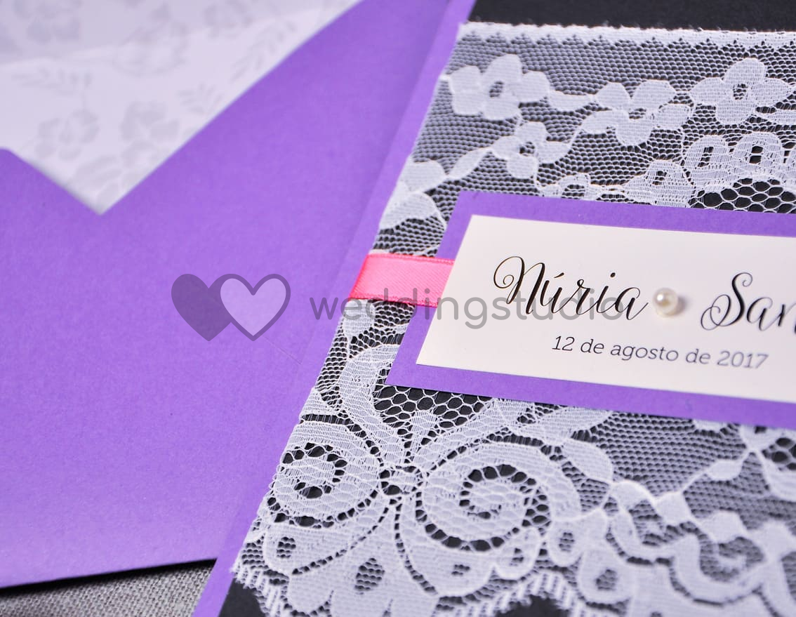 "Invitación de boda ""WE LOVE US"""