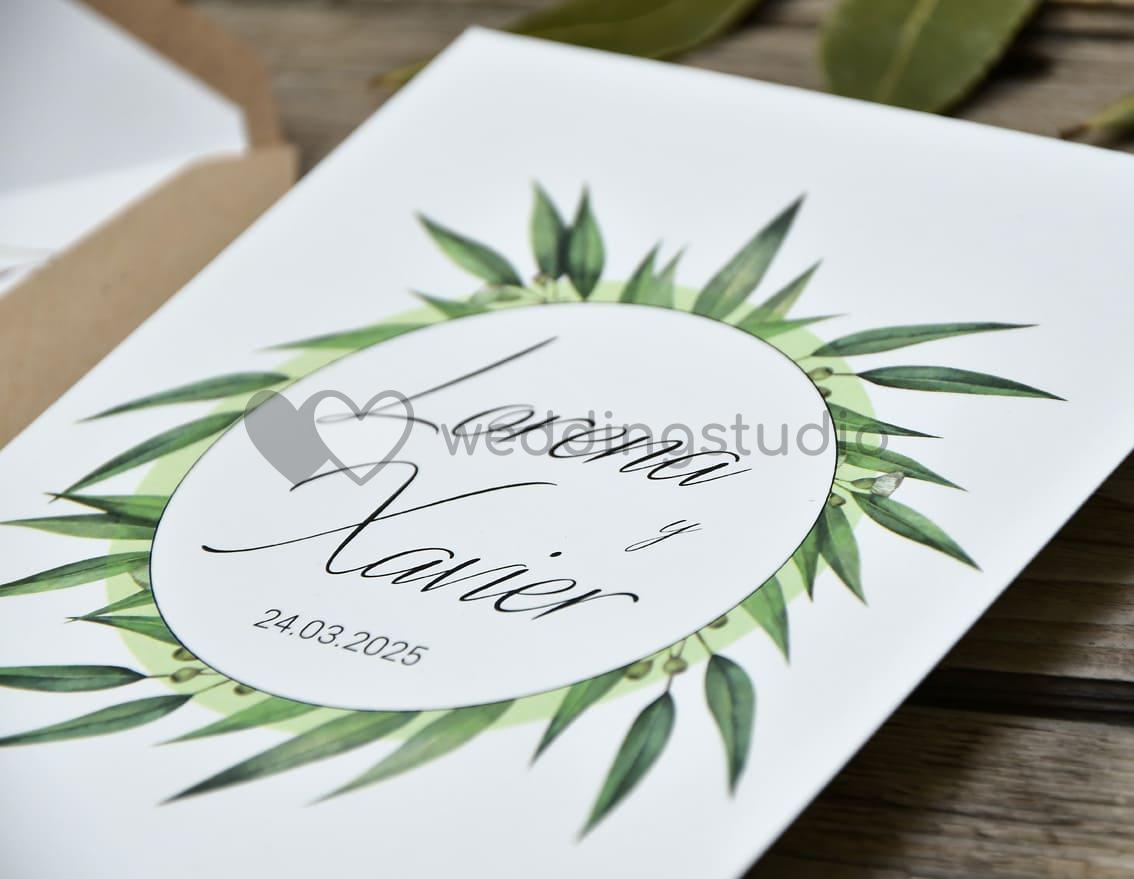 """Invitación de boda """"CORONA DE LAUREL"""""""