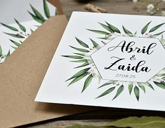 "Invitación de boda ""FLORES DE CEREZO"""