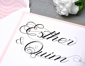 "Invitación de boda ""ERES PERFECT PARA MI"""
