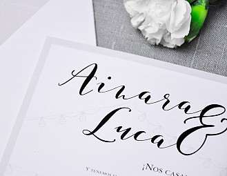 "Invitación de boda ""INFINITAMENTE LOVE"""