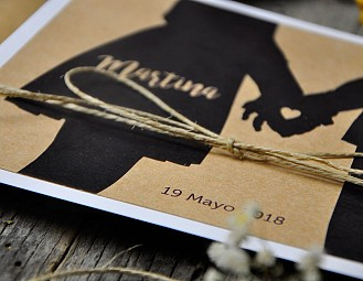 "Invitación de boda ""TOGETHER MOLA MUCHO"""
