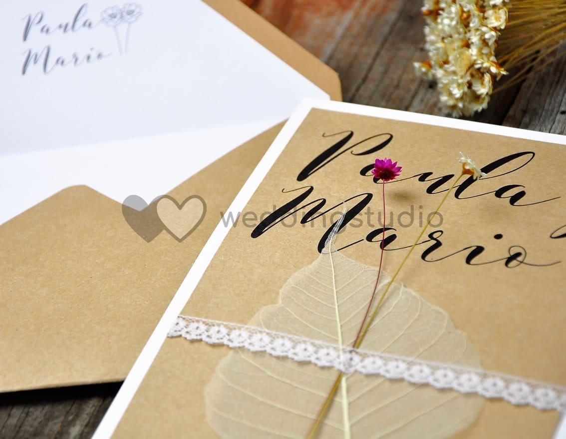 """Invitación de boda """"FLOWERS PARA TI"""""""
