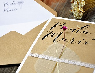 "Invitación de boda ""LA MAR DE HAPPY"""