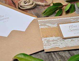 "Invitación de boda ""MI MEDIA ORANGE"""