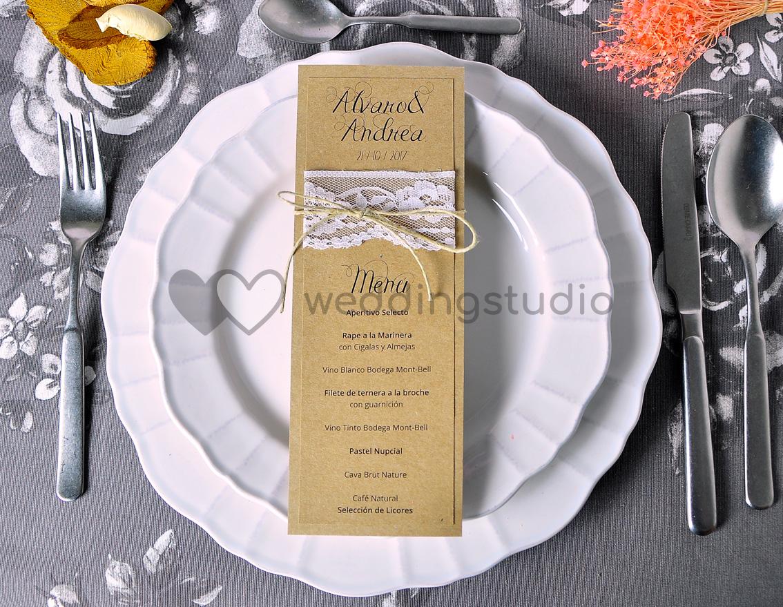 """Menú de boda """"ENJOY DE LAS PEQUEÑAS COSAS"""""""