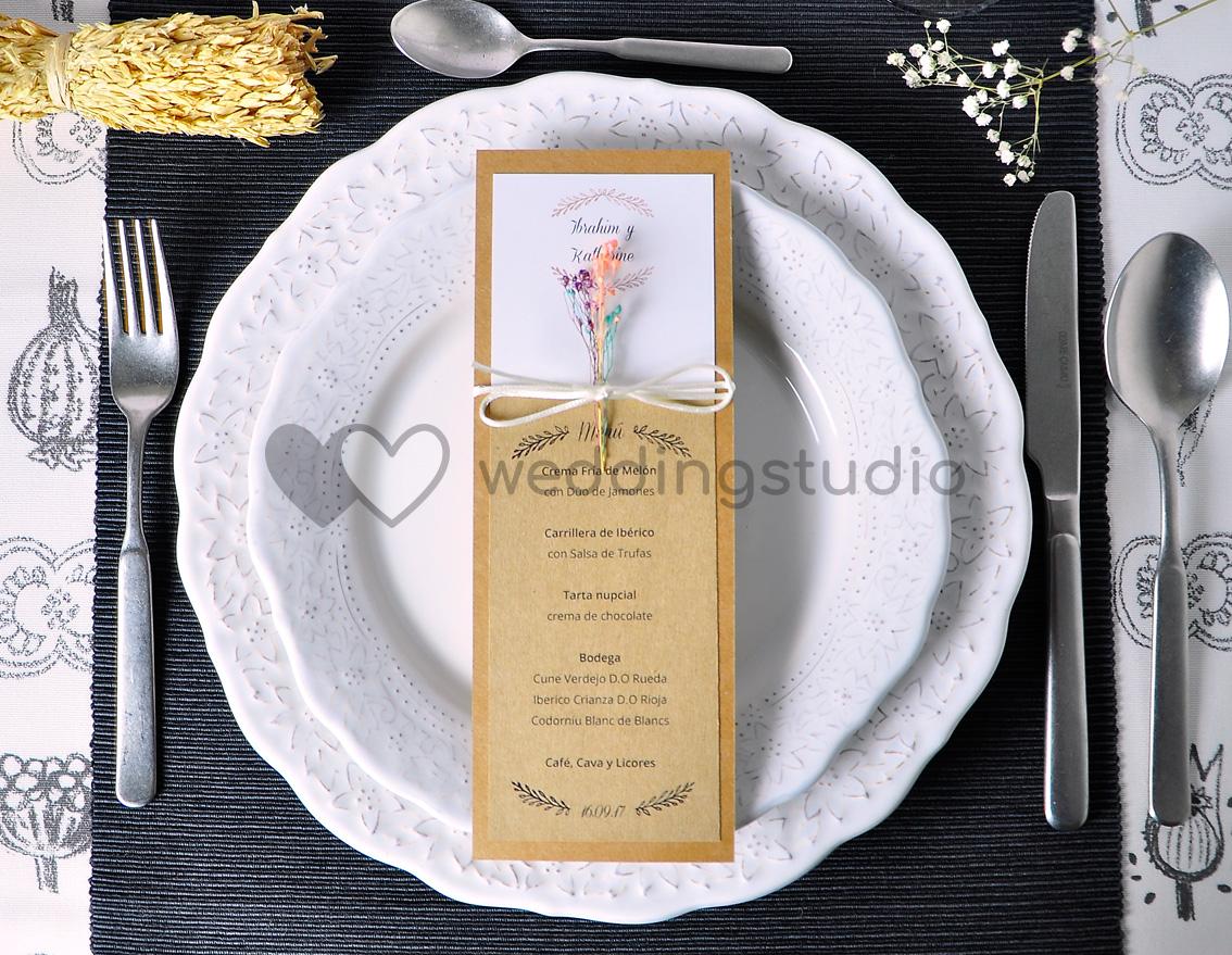 """Menú de boda """"SOMOS MEMORIES"""""""