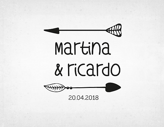 sello-boda-flechas-martina-y-ricardo
