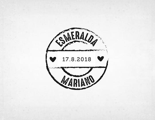 sello-boda-moderno-esmeralda-y-mariano